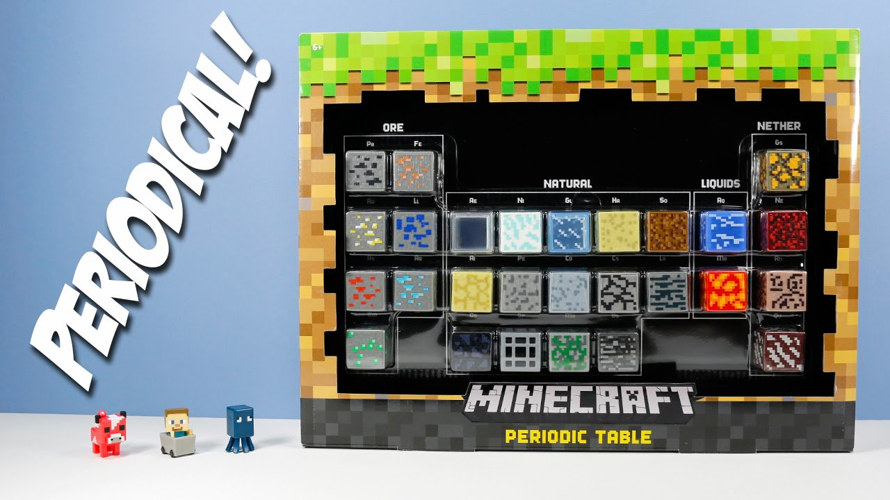 Minecraft periodic table of elements mini figures blocks ore minecraft periodic table of elements mini figures blocks ore natural liquid nether youtube gamestrikefo Gallery
