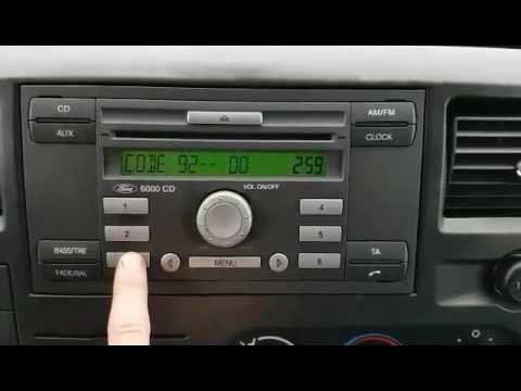 ford radio 6000cd unlock code m series youtube. Black Bedroom Furniture Sets. Home Design Ideas