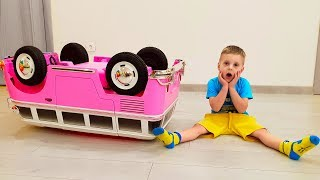 Max pretend play with Doll ride on cars