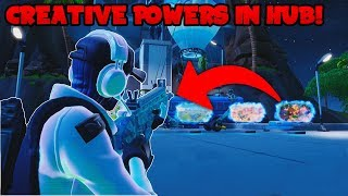 Fortnite | How To Get The Creative Mode Powers In Creative Hub | Season 9