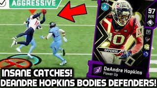 DEANDRE HOPKINS CATCHES EVERYTHING OVER DEFENDERS!  MUST SEE CATCHES! Madden 20 Ultimate Team