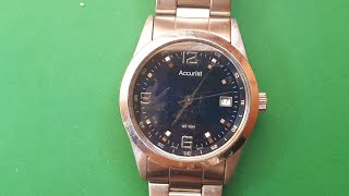 Accurist WR 50M japan movt water resistant 50m all stainless steel