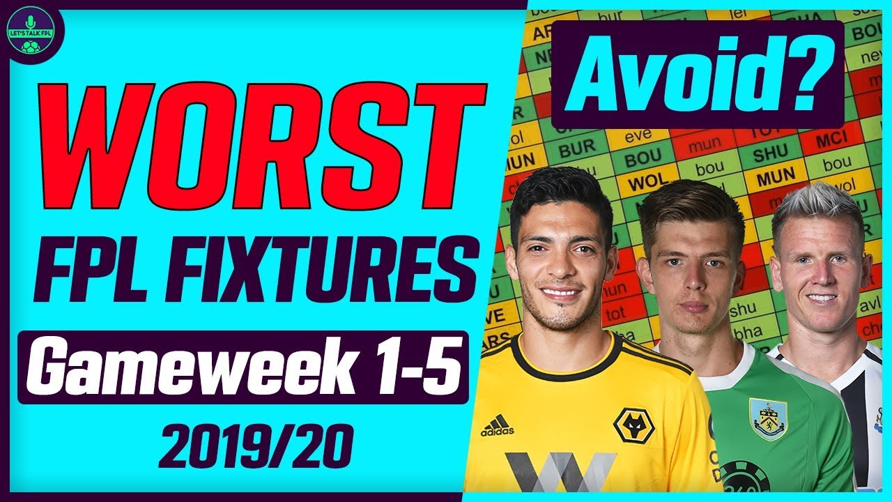 WORST OPENING FPL FIXTURES | GAMEWEEK 1-5 | PLAYERS TO AVOID