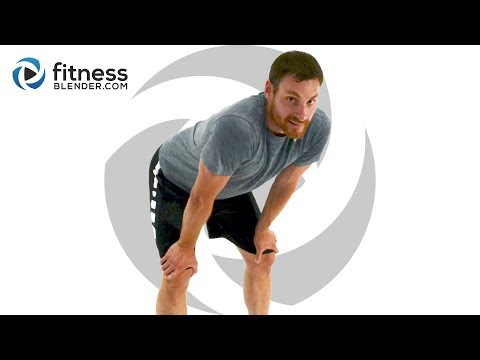 Dynamic Total Body HIIT Cardio and Abs Workout with Warm Up & Cool Down