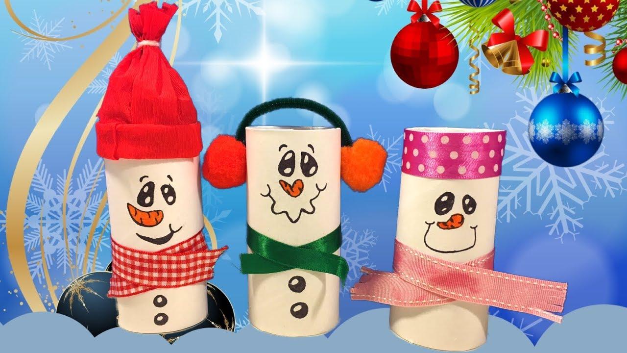 Sneeuwpoppen Knutselen Voor Kerst Ook Leuk Als Traktatie Youtube