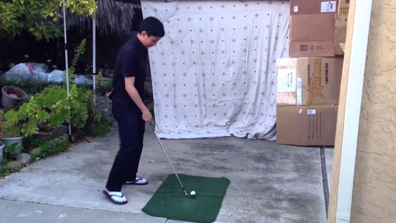Homemade Driving Range - YouTube