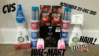 CVS COUPON DEAL HAUL WALMART!!  11-27-12-3