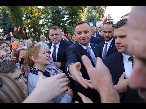 Prezydent w Andrzej Duda w Jezioranach