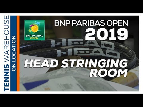 Sneak Peek Into Head Tennis Stringing Room @ BNP Paribas Open