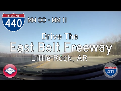 Interstate 440 - Mile 0 - Mile 11 - Arkansas | Drive America's Highways 🚙