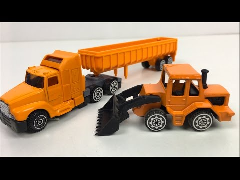 REAL EXTREME ACTION CONSTRUCTION MIGHTY MACHINES ON THE JOBSITE WITH JEEP & DUMP TRUCK -UNBOXING