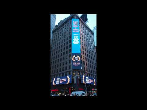 SCAD- Triple Play Screens, Times Square NY Oct. 2017