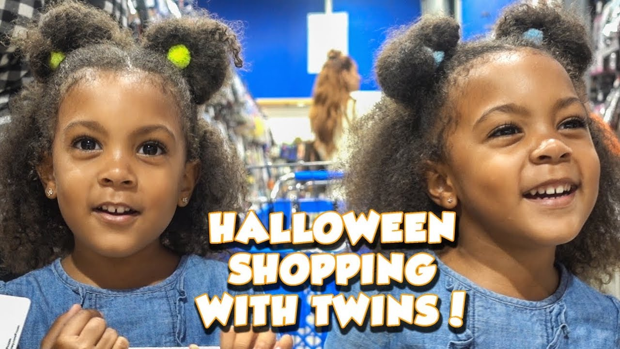 halloween shopping with twins - youtube