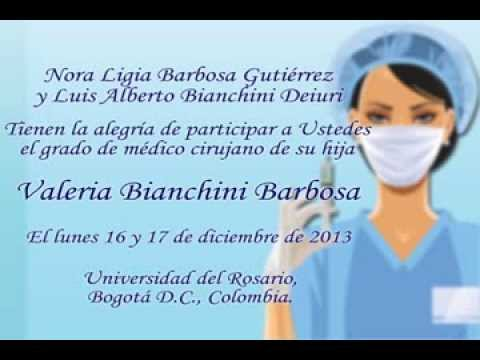 Invitacion Grado Medicina Youtube
