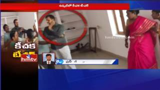 Parents Beat Up Teacher For Misbehaving with 6th Class Girl Student In Hyderabad | HMTV