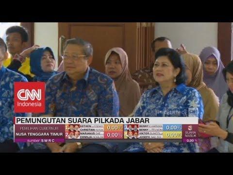 Presiden Ke-6 SBY & Keluarga Mencoblos Di Bogor