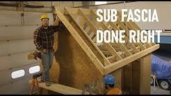 Roof Framing Part 7: Sub Fascia
