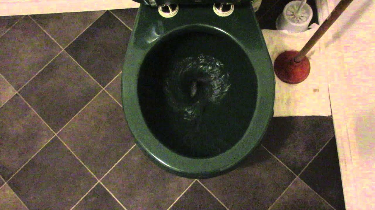 Dark Green 2006 American Standard Cadet Ii Toilet Youtube