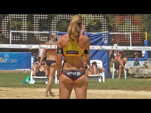 German Beach Volleyball Stars Playing Smart