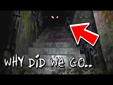we heard something big while exploring this scary place...