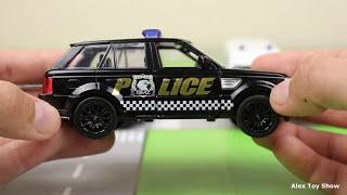 Полицейские машины. Обзор полиции. Полицейская погоня, гоночная машина