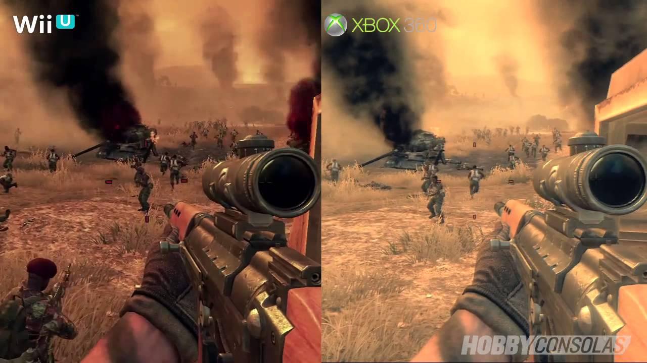 Call Of Duty Black Ops II Wii U Vs Xbox 360 HD En YouTube