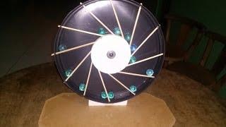 Como Fazer e Montar uma Roda Desequilibrada, Moto Perpetua