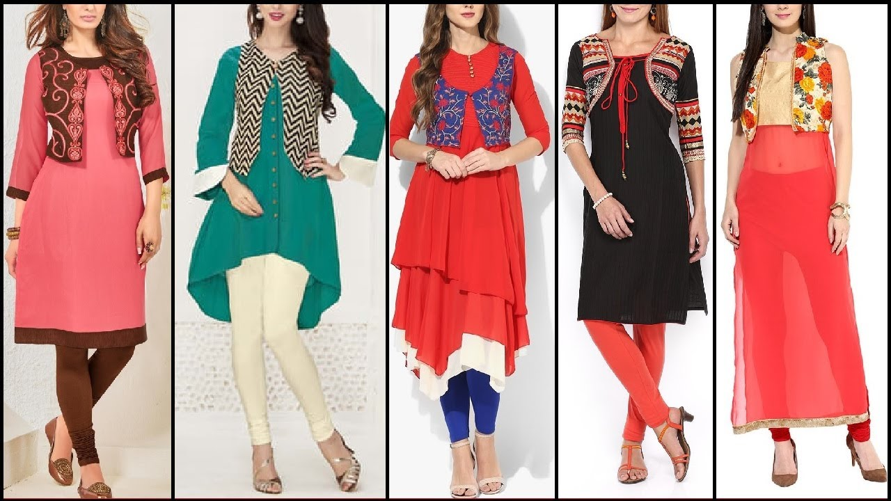 Image result for kurti with jacket designs