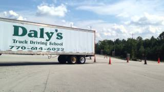 daly s truck driving school 90 degree alley dock