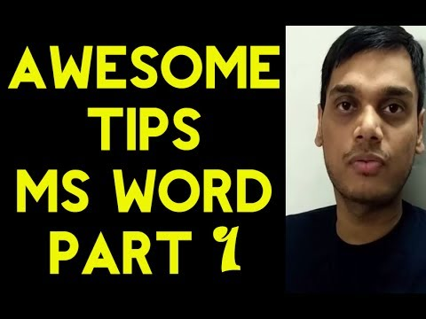 Awesome tips for MS word  part 1 |  Ms word tips | Very helpful for formatting | Hindi