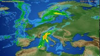 Radar forecast Europe // modelrun: 12h UTC 2019-11-16