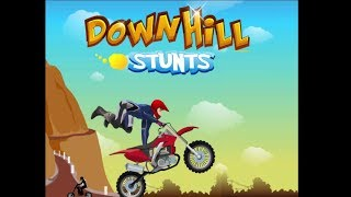 DownHill Stunts Game Walkthrough | Bike Stunts Games