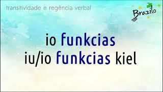 FUNKCII verbo em Esperanto