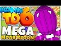 NEW MEGA MOAB BLOON? HARD MODE ONLY! - BLOONS TOWER DEFENSE 6 (BLOONS TD 6)