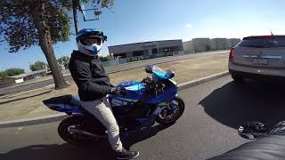 Undercover Cops | GSXR 750 plays with Mustang | Local Vlogger Spotlight