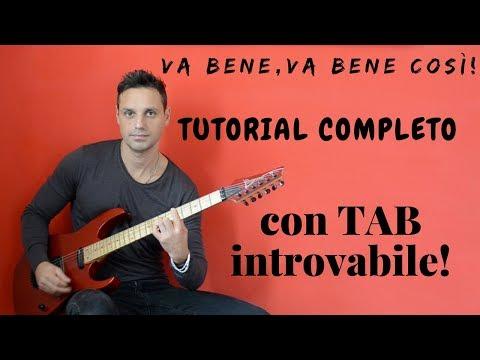 Tutorial chitarra: Va bene così - Vasco Rossi ♫TAB♫