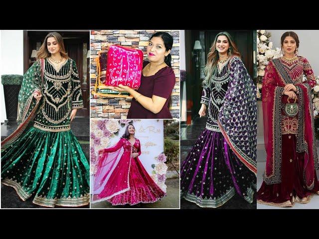 Latest Partywear Readymade Velvet Salwar Kameez / Velvet Gown / Velvet Designs 2021/ Online shopping