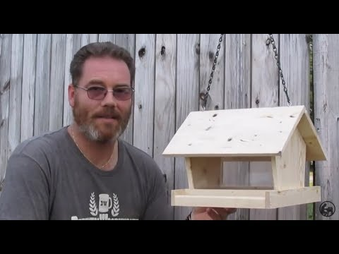 How to make a Bird Feeder from a 2x4