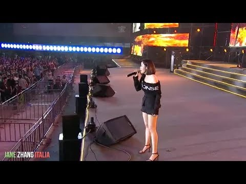 Jane Zhang 张靓颖 2018.07.20 Jiangyou Baolong Square Music Live