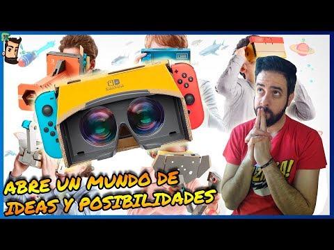 LA REALIDAD VIRTUAL LLEGA A SWITCH   Nintendo Labo   VR   Noticias