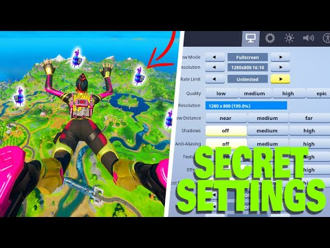 Fortnite - How To Spot LLAMAS From SPAWN ISLAND & Super Far Away! (SECRET SETTINGS) | Chapter 2