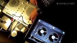 JAY ELLYIOT - Old school R&B mix - DJAY APP - VESTAX SPIN 2 - iPAD 3