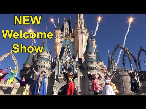 "NEW Magic Kingdom Character Welcome Show ""Let The Magic Begin"" Walt Disney World 2017"