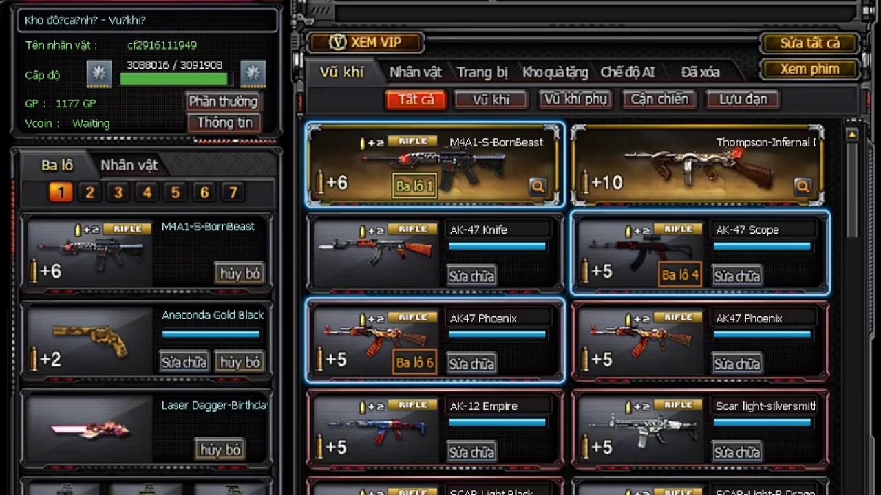 Share Acc Cf 2 Vip Cùng Đống Báu Vật Khủng Cho ACE Cầy Cuốc- Boom Siêu Bựa