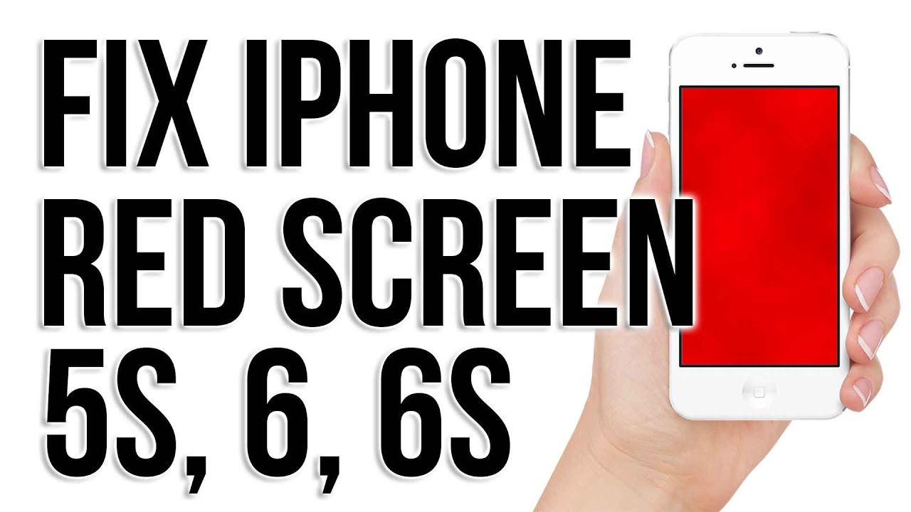 how to fix Red Blue Screen fix Red scrern iphone 5 5s 6 AND 6s