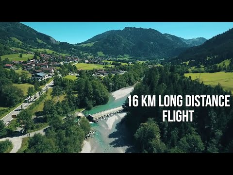 A little village in the German Alps (Aerial Drone Footage)