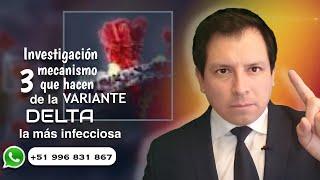 INVESTIGACIÓN REVELA 3 MECANISMOS QUE HACEN DE LA VARIANTE DELTA MÁS INFECCIOSA