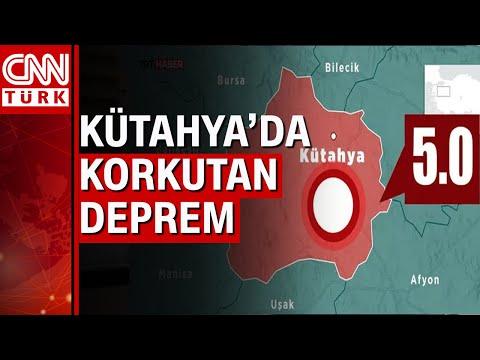 Kütahya'da 5 büyüklüğünde deprem! Çok sayıda ilden hissedildi