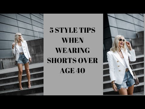 How to Wear Denim Shorts Over 40  Follow These 5 Style Tips When Wearing Denim Shorts