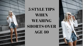 How to Wear Denim Shorts Over 40 | Follow These 5 Style Tips When Wearing Denim Shorts